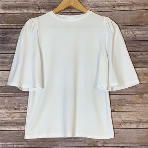 LEITH Exaggerated Cap/Bell Sleeve Top